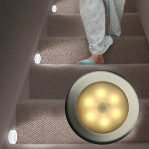 Wall-Lamp Light Motion-Sensor-Light Cabinet Stairs Magnetic Wireless-Detector 6 1pcs