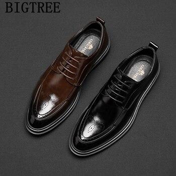 Zapatos De Vestir negros a la moda para Hombre, calzado De cuero,...
