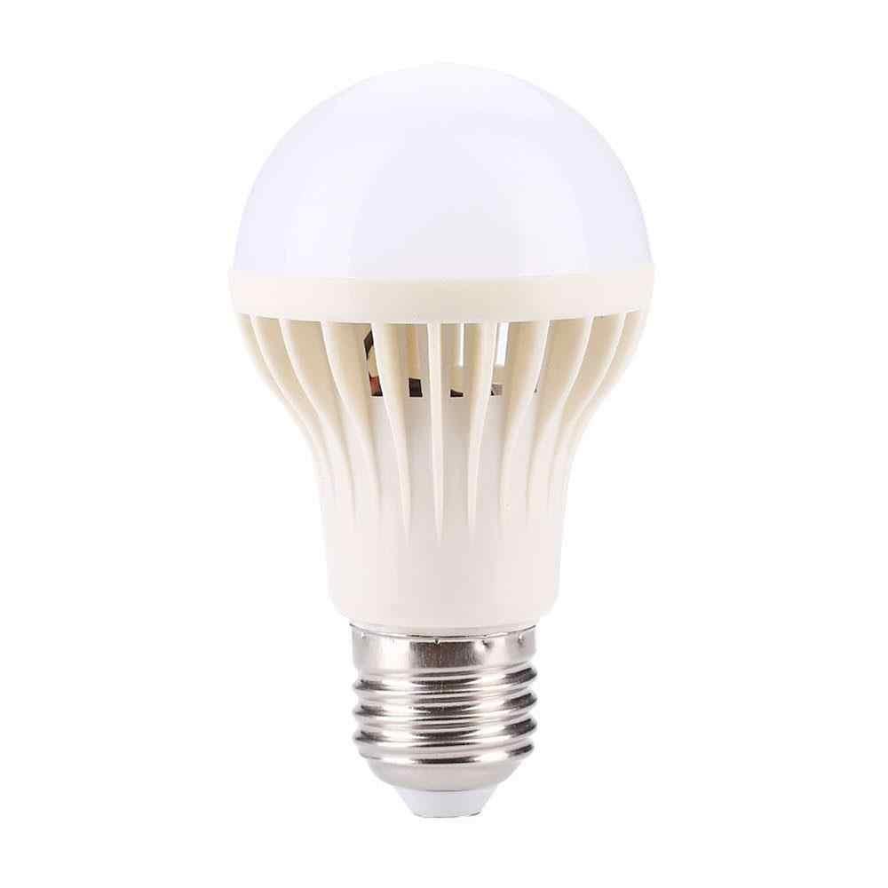 מנורת אור LED הנורה ביתי 5W אוטומטי E27 PIR זיהוי תנועה NAS קול חיישן אספקת 220V לבן תאורה מתקן SMD2835