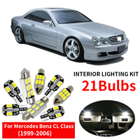 21 x LED Interior Lights Kit for 1999 2006 Mercedes Benz CL Class W215