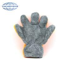 Araba yıkama mikrofiber eldiven turuncu ve gri 29*28*3cm palmiye şekli yıkama eldiveni detay fırça otomatik temizleme detaylandırma