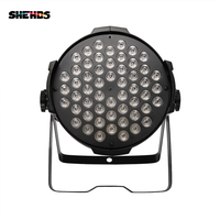 Aluminum Housing LED Par 54x9W RGB 3in1Wall Washer Flat Projector Floodlight Can Wash DMX512Controller Effect Stage Design Light