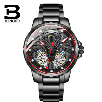 Switzerland BINGER Watch Men Automatic Mechanical Luxury Brand Men Watches Sapphire Men Watch tourbillon relogio masculino B116G