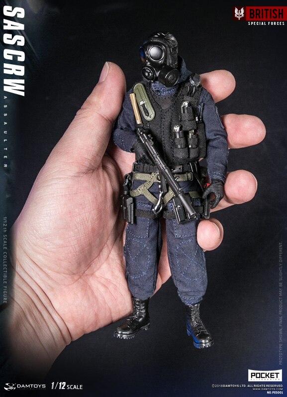 댐 완구 pes001 포켓 엘리트 시리즈: 영국 sas crw assaulter 1/12 그림-에서액션 & 장난감 숫자부터 완구 & 취미 의  그룹 1