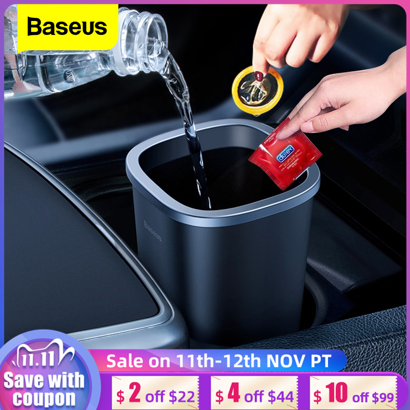 Baseus Car Trash Bin Auto Organizer Car Trash Can Storage Bag Rubbish Car Accessories Garbage Box Dust Case Holder Waste Bag