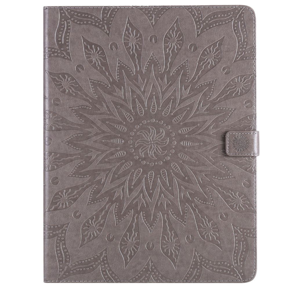 2020 iPad Case 3D Protective Shell Flower Skin Leather Pro Cover Embossed 9 12 for
