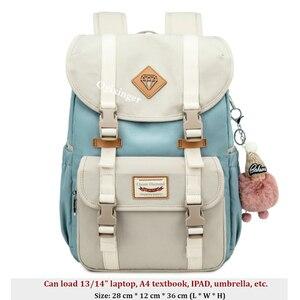 Image 4 - Mädchen Jugend Mode Rucksack Für Teenager Mädchen Rucksäcke Student Kinder Tasche Frauen Campus Laptop Rucksäcke Junior Schule Taschen