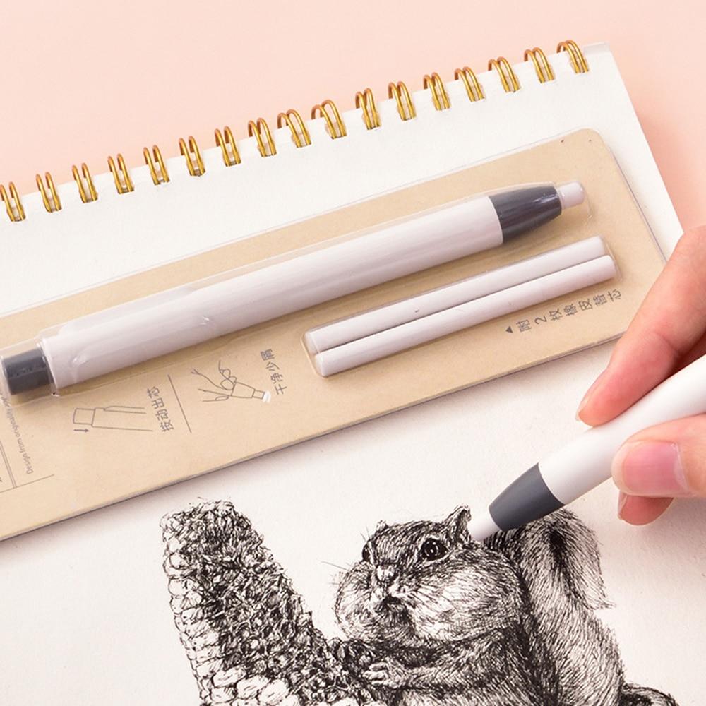 1 Pcs Creative Rubber Eraser Automatic Retractable Press Pencil Eraser Pen Eraser Student Sketch Stationery