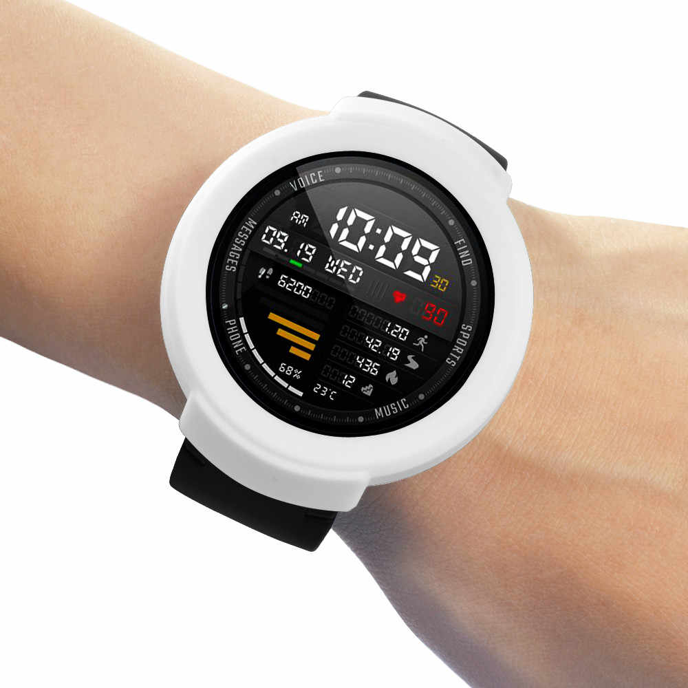 Funda protectora de silicona suave TPU para Xiaomi Huami AMAZFIT Verge Smart Watch reemplazo funda completa Marco de carcasa