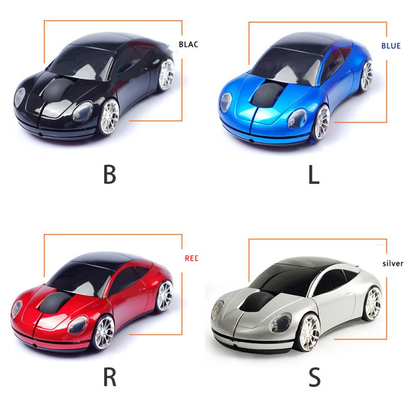Fashion USB 2.4GHz Voiture Style Gaming Mouse Wireless Car Shape Optical Mouse 1600 DPI Mice For Laptop PC Computer New Arrival