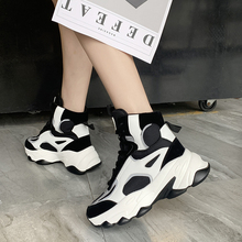 Autumn Women Chunky Sneakers 2019 New Platform  White Casual Dad Shoes Keep Warm Sports