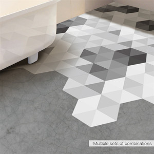 Black White Gray Hexagon Floor