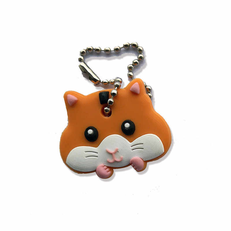 Silicone Key Ring Cap Head Cover Lovely Animals Shape Key Case Shell Keychain