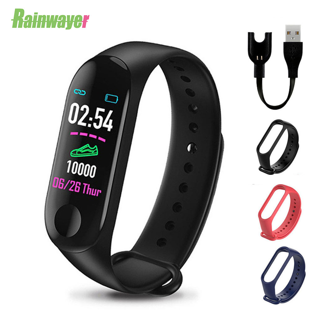 M3Plus Sport Smart Wristband Bracelet Strap Men SmartBand Call Heart Rate Fitness Tracker M3 Plus Smart Watch For IOS Android image