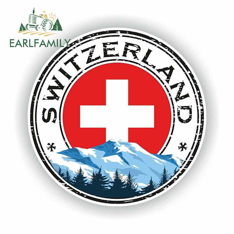 EARLFAMILY 13cm x 13cm For Switzerland Fine Decal Vinyl Car Wrap Car Accessories Scratch-Proof Sticker Suitable For VAN RV(China)