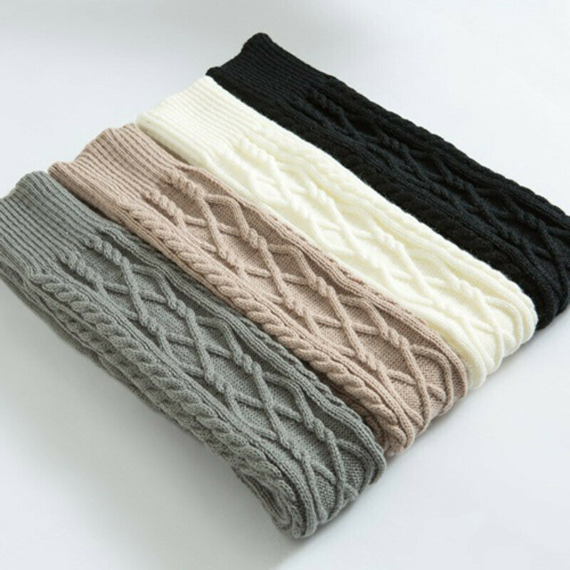 Women Winter Knitted Solid Color Simple Warm Stockings