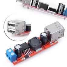 Hot Sale Dual USB 9 V/12 V/24 V/36 V untuk 5V Converter DC-DC 3A Step Down Power Modul(China)