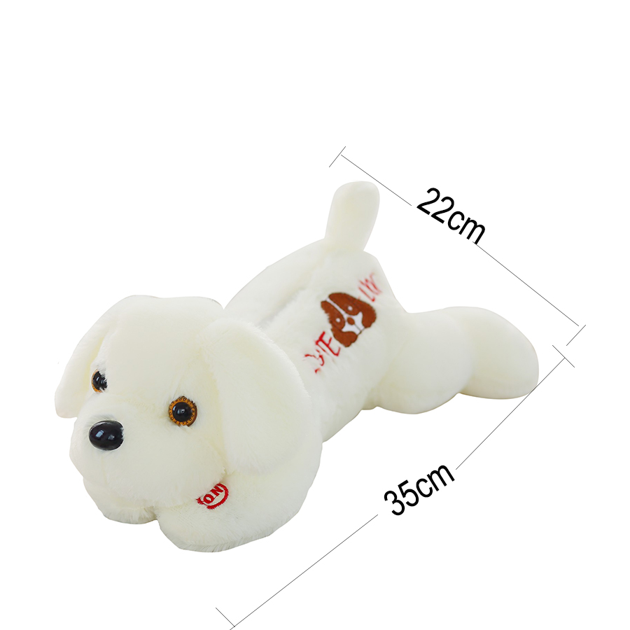 Luminous Dog Plush Doll Colorful Led Glowing Dogs With Embroidery Children Toys For Girl Kid Birthday Gift Just6F