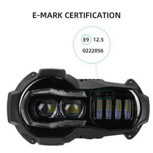 Image 4 - Yeni gelen! Motosiklet LED farlar projektör BMW R1200GS 2004 2012 R 1200GS ADV macera 2005 2013 Moto ışıkları montaj