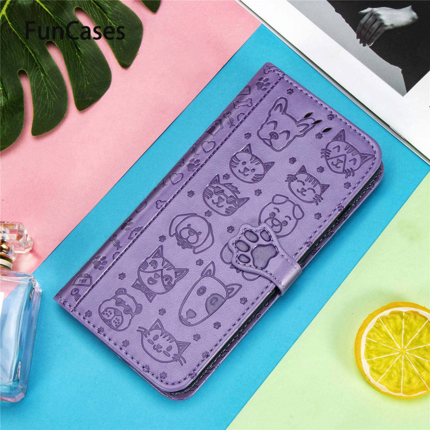 Cat Covers For Huawei Honor 10i Book Case P30 Lite Nova 5T P Smart Plus 2019 P40 Pro Enjoy 9S Mate 30 20i Y7P Y9 Prime 20S 20 Z(China)