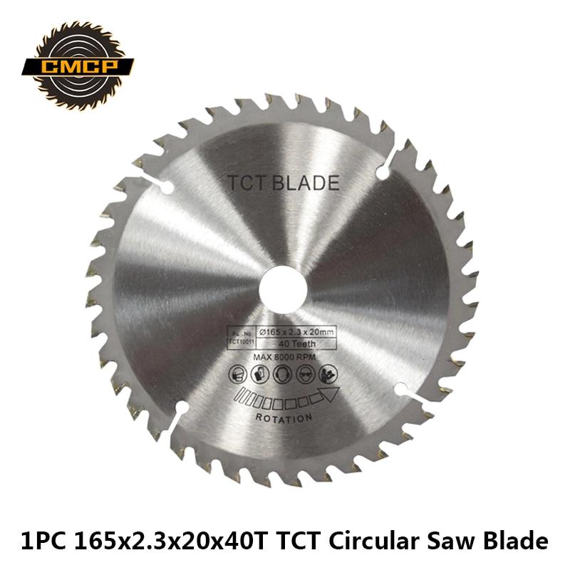 1pc 165x2.3x20x40T Circular Saw Blade For Wood Tungsten Carbide Saw Blade Woodworking Saw Cutting Discs