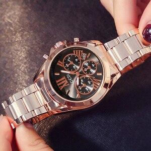 Image 4 - Gimto бренд класса люкс из розового золота Для женщин часы Водонепроницаемый Календари уникальный Кварц Платье в деловом стиле Часы для женщин GOLDEN LADY часы