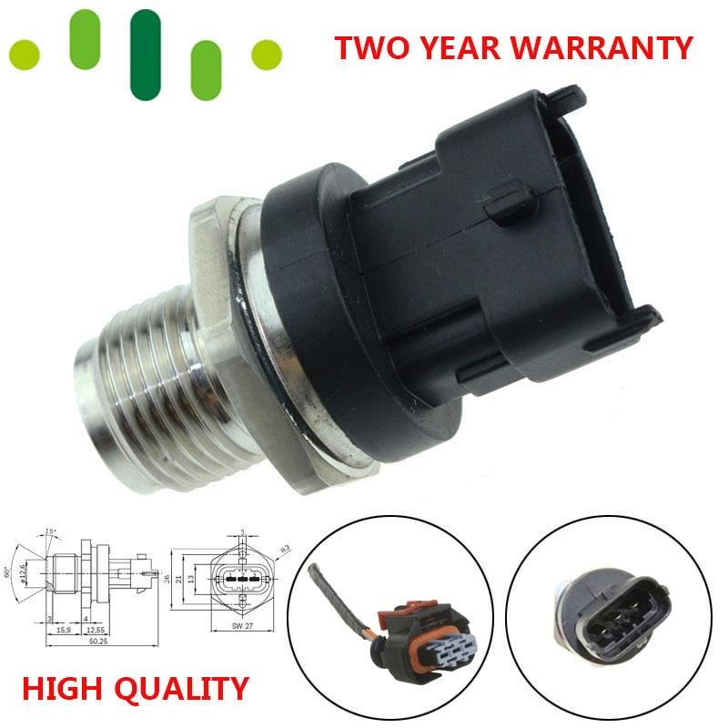 Sensor de pressão de combustível de trilho diesel 0281002908 55190763 31400-4A010 Para Hyundai H-1 2.5 CRDi KIA SORENTO I Alfa Romeo Mitsubishi