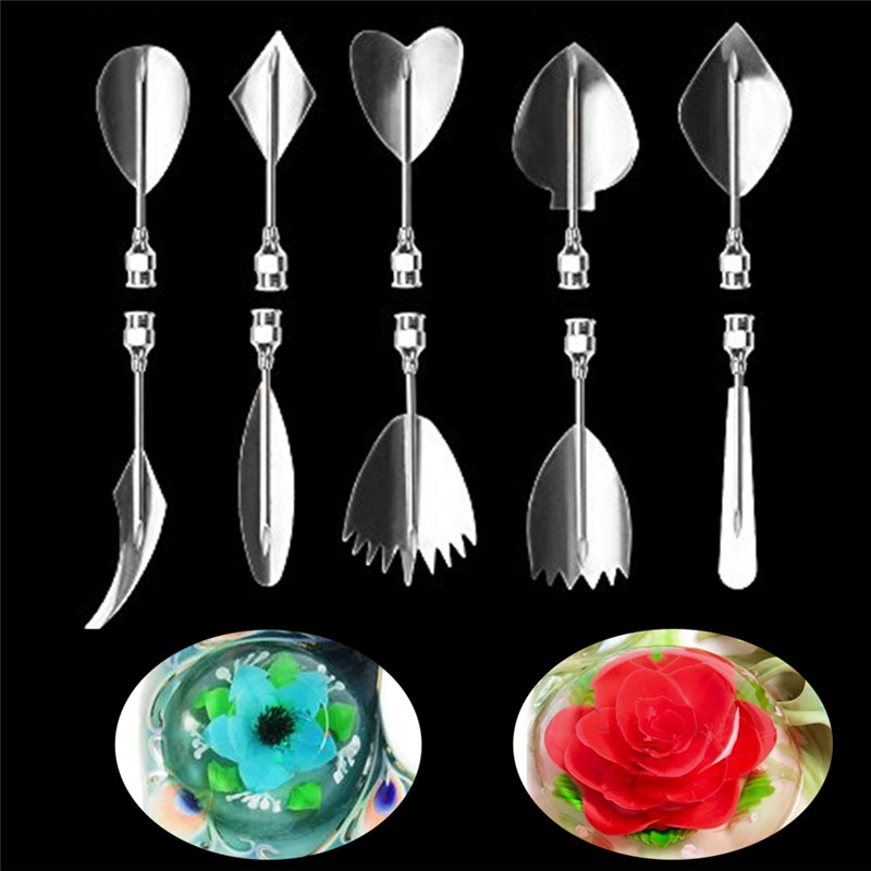 Gelatin Art Tools Gracilaria Jelly Tools 3D Jello Cake Tools 10pcs//Set10