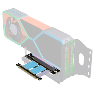 Image 5 - PC Graphics Card PCIE 4.0 16x Extension Cable Flexible Full Speed 4.0 GPU Riser Cable Vertical Link 90° For ASUS ROG Chassis