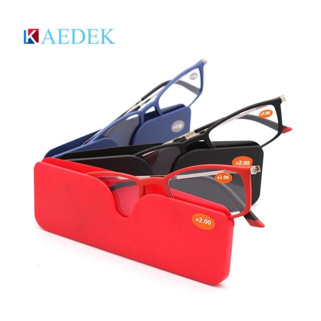 Купить ультралегкие очки для чтения kaedek мужчин и женщин небьющиеся картинки цена