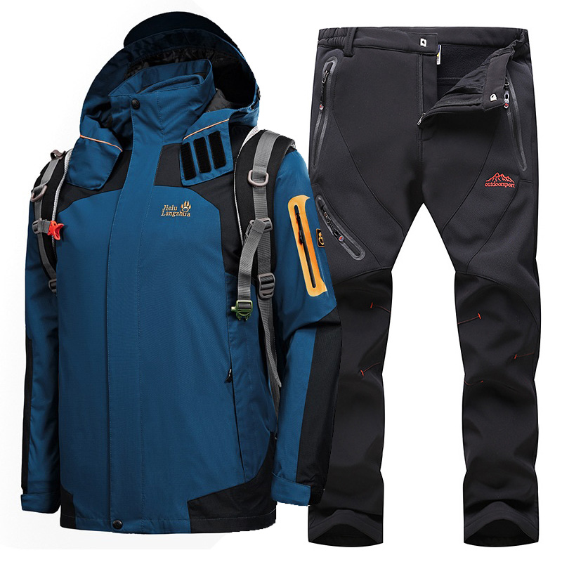 Ski Suit For Men Snow Skiing Snowboard Sets Thermal Waterproof Windproof Ski Jackets Outdoor Sports Hiking Jacket Men's Ski Suit