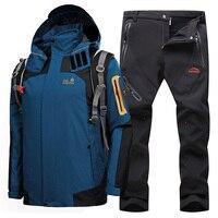 Ski Suit For Men Snow Skiing Snowboard Sets Thermal Waterproof Windproof Ski Jackets Outdoor Sports Hiking Jacket Men's Ski Suit