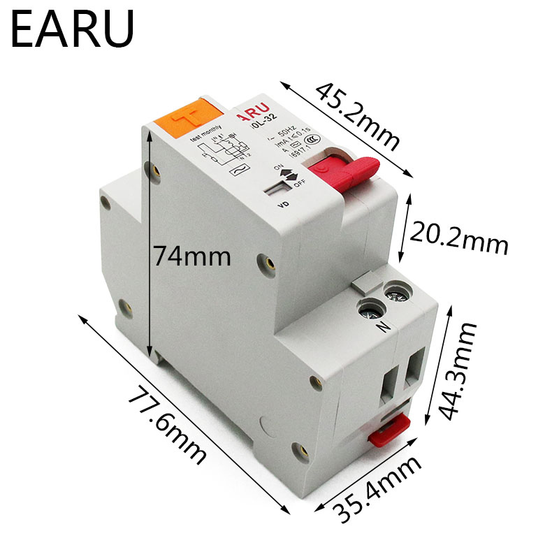 H3a56063545b84d8fbabdbe26394d5cc6S - DZ30L DZ40LE EPNL DPNL 230V 1P+N Residual Current Circuit Breaker With Over And Short Current  Leakage Protection RCBO MCB 6-63A