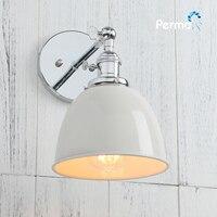 Permo nowoczesna lampa ścienna kinkiet przemysłowy w stylu Vintage światła w sypialni luminaria lampen nowoczesna kuchnia schody Loft Decor w Wewnętrzne kinkiety LED od Lampy i oświetlenie na