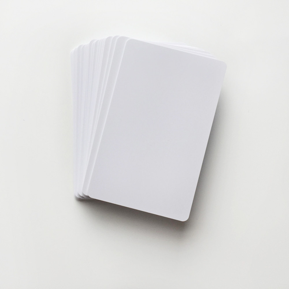 100 Glossy White Blank Inkjet Printable PVC Card Waterproof Plastic ID Card Business Card no chip for Epson for Canon Printer