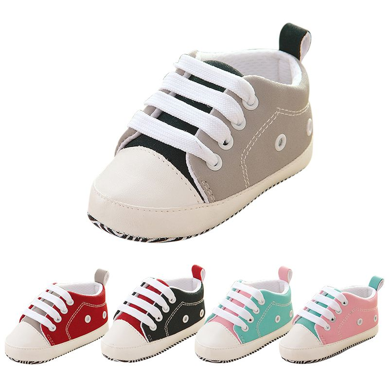 Autumn/Spring Baby Shoes Newborn Boys Girls PU Leather Moccasins Sequin First Walkers Baby Shoes 0-18M