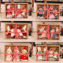 Christmas Pendant Plush Ornament Doll Gift Box Sets Hanging Window Dressing Christmas Tree Creative Scene Layout Home Decoration