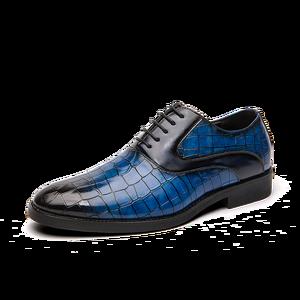 Image 3 - Męskie buty sukienka Gentleman Business Paty skórzane buty ślubne płaskie buty męskie skórzane oksfordzie formalne buty