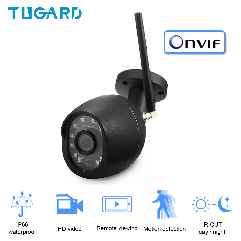 WiFi Outdoor Waterproof Camera 1080P HD Surveillance Camera ONVIF Wireless Wired Camera With SD Card Slot Max Support 128G