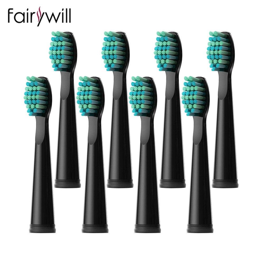 Fairywill – brosses à dents électriques sonique de remplacement, 4/8 têtes, FW-507 FW-508 FW-917