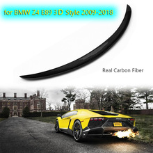 Car Rear Spoiler Real Carbon Fiber Rear Spoiler Wing for BMW Z4 E89 3D Style 2009-2018 Car Styling Auto Refit Tail Spoiler Lip for infiniti g37 4door sedan rear spoiler wing lip car styling for g37 high quality carbon fiber rear trunk spoiler wing 2007 13
