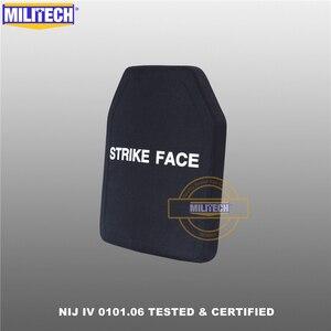 """Image 4 - Militech duas peças 10 """"x 12"""" alumina cerâmica & pe nij iv 0101.06 suporte placa à prova de balas sozinho painel balístico com frete grátis"""