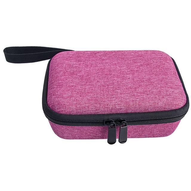 Saco de armazenamento fecho com zíper caso de transporte anti poeira em casa difícil eva com alça portátil bolsa viagem para kidizoom câmera pix