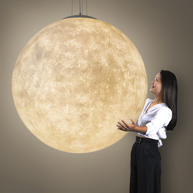 modern 3D Print moon lamp pendant lights PLA children room hanging lamp de bedroom lighting living room pendant lamp Luminaire