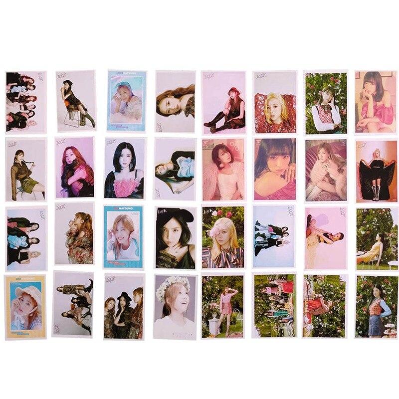 16PCS/Set KPOP APINK New Album LOOK LOMO Card Fashion Self Made Paper Photo Card Photocards