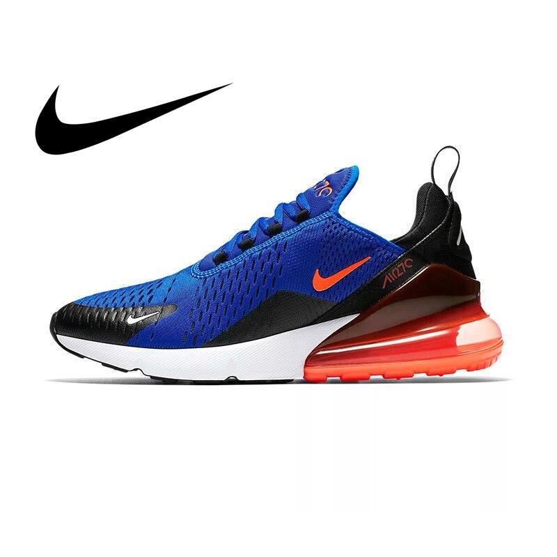 Véritable Nike Air Max 270 hommes chaussures de course baskets plein Air Sport à lacets Jogging marche Designer athlétique Original 2019 nouveau