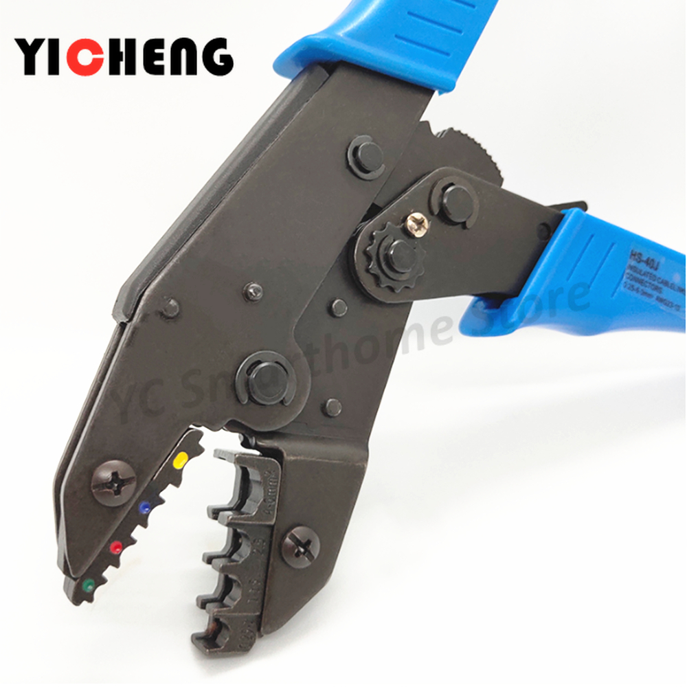 ~Optional jaws random handle colorly European Ratchet Crimper Terminal Crimp Pliers Hardware <font><b>HS</b></font> 9
