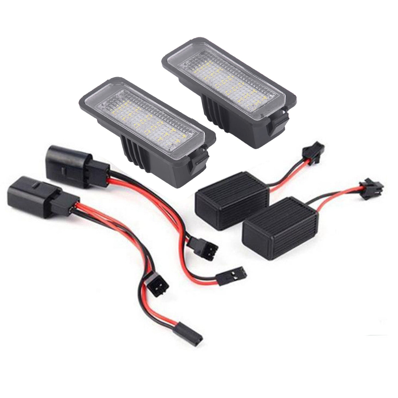 2 uds coche LED para placa de matrícula luces para Skoda Superb sede de Altea Exeo Ibiza