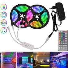 Światła Led RGB do pokoju dekoracja sypialni inteligentna dioda Led taśma 12V 5050 elastyczna taśma RGB Neon z muzyka Bluetooth zdalne podświetlenie