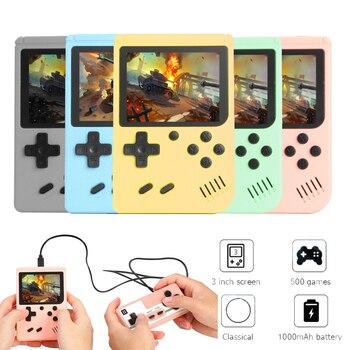 800 в 1 Портативный Ретро видео Игровая приставка портативная игровая консоль 8 бит 3,0 дюймов Цвет ЖК-дисплей детская Цвет мини карманные игровой плеер подарок